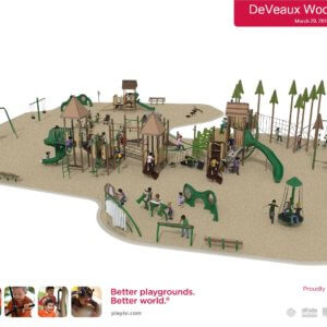 3D rendering of the overall playground site