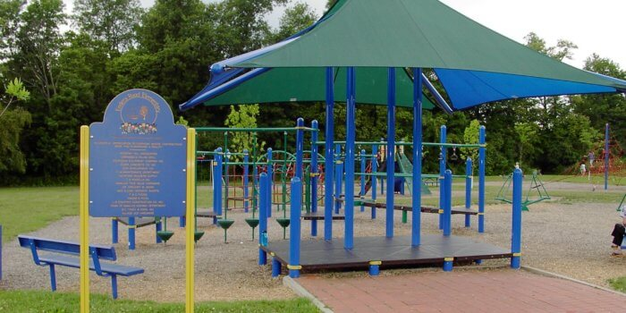 Photo of playground with shade structure.