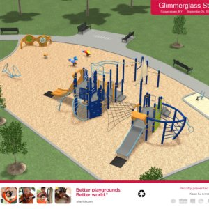 3D rendering of the overall play area