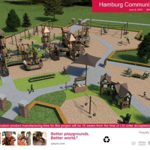3D rendering of the overall play site