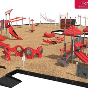 3D drawing of playground site