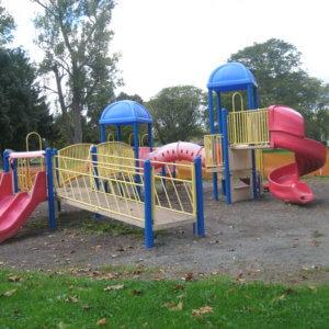 Photo of original playground equipment